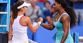 Serena Williams and Agnieszka Radwanska
