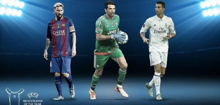 Ronaldo, Messi, Buffon for UEFA Player of the Year award