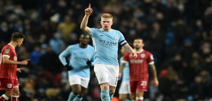 Kevin De Bruyne stays with Manchester City until 2023